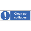 Clean Up Spillages (Self Adhesive Vinyl,600 X 200mm)