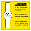 Caution Co2 (Rigid Plastic,210 X 210mm)