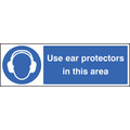 Use Ear Protectors In This Area (Self Adhesive Vinyl,200 X 150mm)