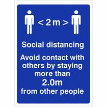 VCC.06W 2M Social Distancing Avoid Contact - 150MM x 200MM