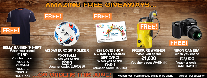 Amazing Free Giveaways this June!
