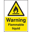 Flammable Liquid (Rigid Plastic,200 X 150mm)