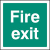 Fire Exit (Rigid Plastic,200 X 200mm)