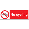 No Cycling (Rigid Plastic,300 X 100mm)