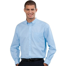 932M Mens Long Sleeve Oxford Blue Shirt