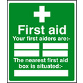 First Aid & Safe Condition Signs 26027H