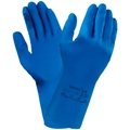 Ansell 87-195 Econohand Natural Rubber Latex Blue Glove