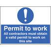Permit To Work (Rigid Plastic,400 X 300mm)