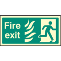 Fire Exit Right Htm (Self Adhesive Vinyl,400 X 200mm) (22082J)