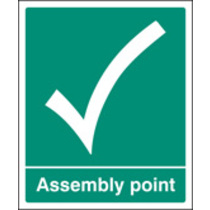 Assembly Point (Rigid Plastic,300 X 250mm)