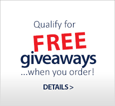 Free Giveaways when you order!
