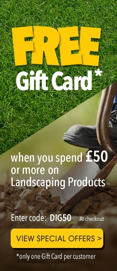 Receive a Free Gift Card when you buy Gardening and Landscaping Products!