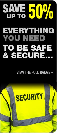 Save up to 50% on all Security Products and Workwear!