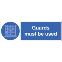 Guards Must Be Used (Rigid Plastic,600 X 200mm)