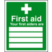 First Aid & Safe Condition Signs 26004H