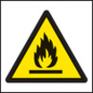 100 S/a Labels 50x50 Flammable