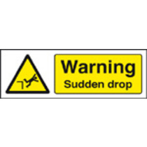 Warning, Sudden Drop (Self Adhesive Vinyl,300 X 100mm)