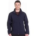 UC612 Classic Full Zip Soft Shell Jacket Navy