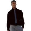 65118 Mens Long Sleeve Black Poplin Shirt