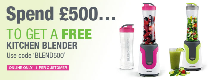 Receive a FREE Kitchen Blender when you spend £500!