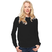 SG20F Ladies Black Crew Neck Sweatshirt                     SG20FBL