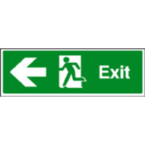 Exit - Left Safety Sign Self Adhesive Vinyl