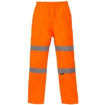 Hi-Vis Breathable Overtrousers - Orange
