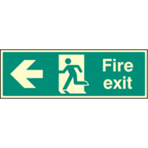 Fire Exit Left (polycarbonate,300 X 100mm) (72003G)