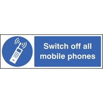 Switch Off All Mobile Phones (Self Adhesive Vinyl,300 X 100mm)