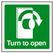 Turn To Open - Right (Rigid Plastic,100 X 100mm)