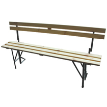 Folding Form 6' Bench c/w Back Support