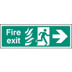 Fire Exit Arrow Right Htm (Self Adhesive Vinyl,450 X 150mm) (22084L)