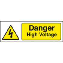 Danger High Voltage (polycarbonate,300 X 100mm)