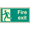 Fire Exit - Left Symbol (Rigid Plastic,400 X 200mm)