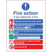 New Eec Fire Action (manual Call 999) (Self Adhesive Vinyl,200 X 150mm) (21419E)