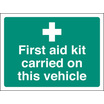 First Aid Kit On This Vehicle-rev Print