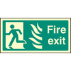 Fire Exit Photo Htm (left) (photo. Rigid Plastic,400 X 200mm)