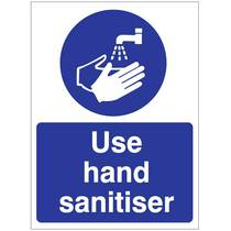 HYB.11W Use Hand Sanitiser - 150MM x 200MM
