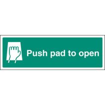 Push Pad To Open (photo. Self Adhesive Vinyl,450 X 150mm)