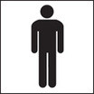Gents Wc Symbol (Rigid Plastic,100 X 150mm)