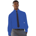 65118 Mens Long Sleeve Mid-Blue Poplin Shirt