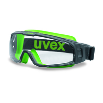 uvex u-sonic Goggle Grey/Lime Frame Clear Lens