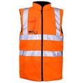 Orange Hi Vis Reversible Fleece Lined Body Warmer