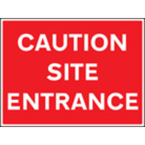 Caution Site Entrance (aluminium,600 X 450mm)