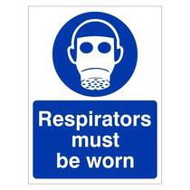 MAP.20W Respirators Must Be Worn - 150MM x 200MM