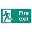 Fire Exit - Left Symbol (Self Adhesive Vinyl,400 X 200mm) (22056J)