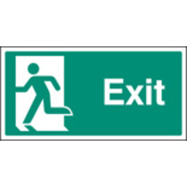 Exit - Left Symbol (Rigid Plastic,400 X 200mm)