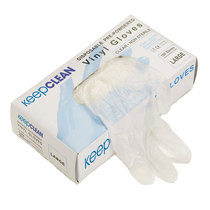 KeepCLEAN Clear Vinyl Powdered Disposable Gloves