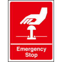 Emergency Stop (Rigid Plastic,200 X 150mm)