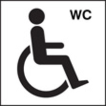 Disabled Wc Symbol (Rigid Plastic,200 X 200mm)